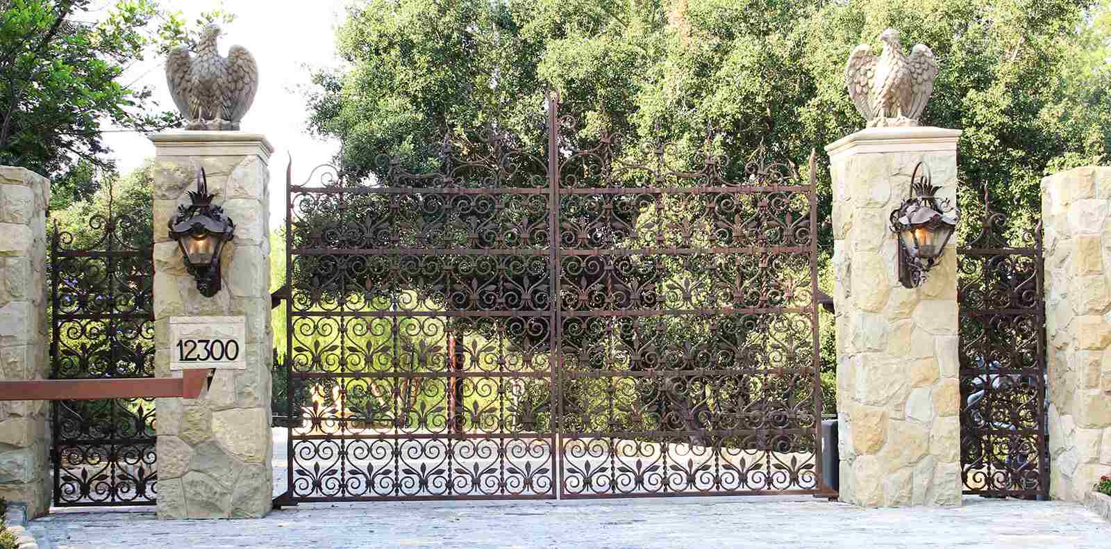 Rust stained Moroccan inspired bifold gate