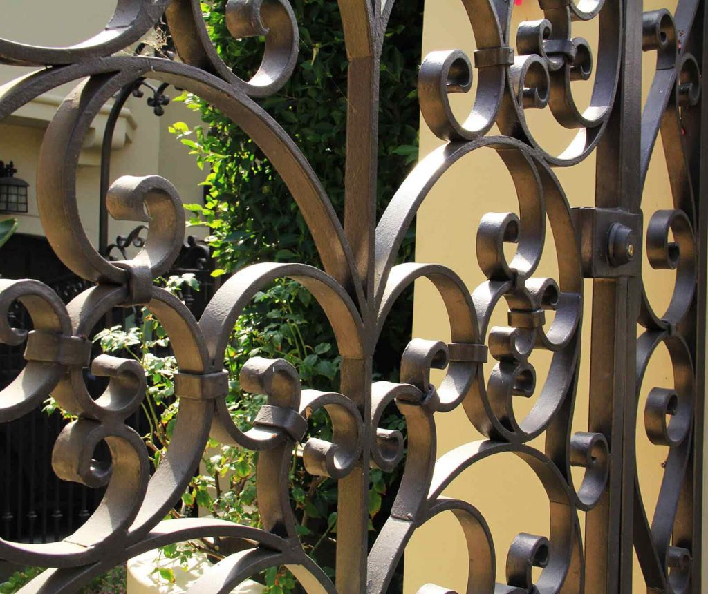 Steel gate scroll work