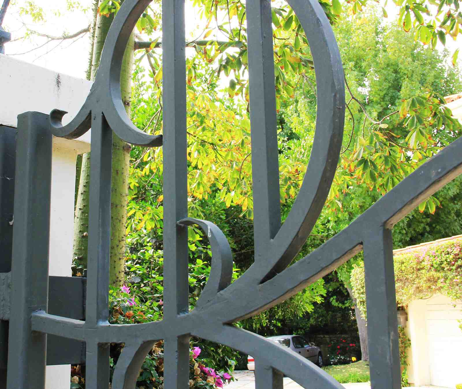 Close up of steel gate