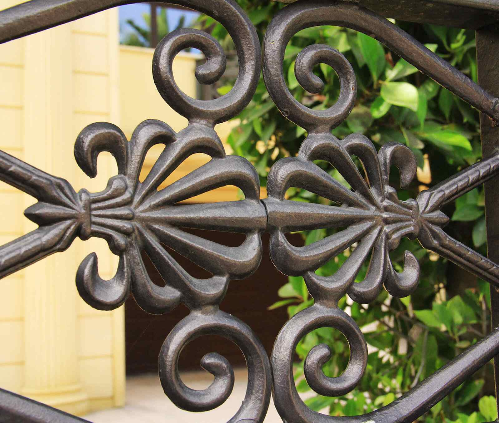 Intricate hand forged wrought iron
