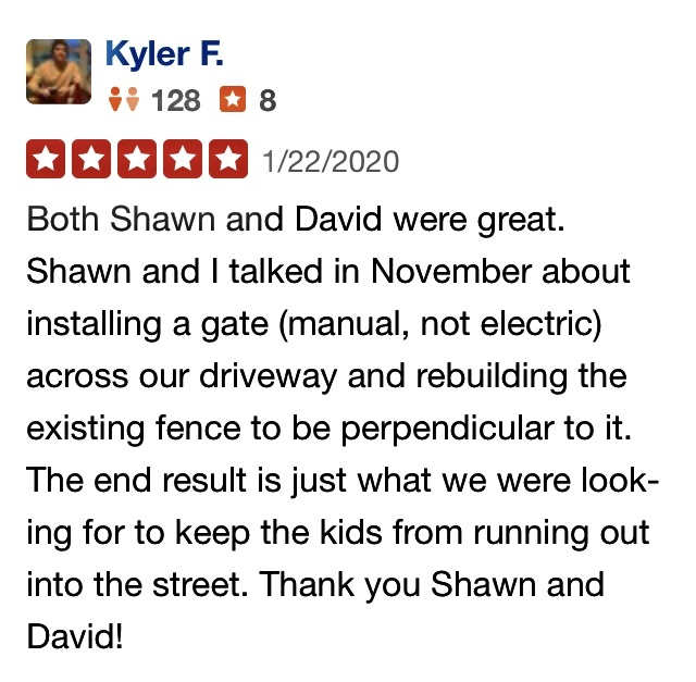 Local Gate Service Customer Review
